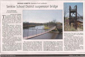 Senkiw Suspension Bridge Article