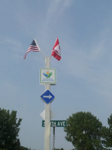 Canada - U.S. Flags on Border s